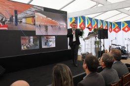 CDL de Florianópolis participa da cerimônia suíça para celebrar a construção do novo terminal
